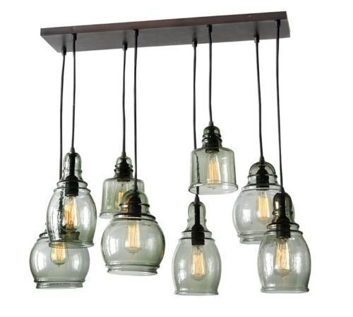 Pottery Barn Ceiling Light Fixtures: NEW Pottery Barn Paxton Glass 8-Light Pendant Chandelier 8