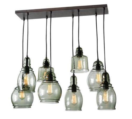 Glass Pendant Lights Pottery Barn : New pottery barn paxton glass light pendant chandelier
