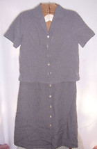Talbots Black & White Gingham Shirt & Skirt Misses Size 6 - $20.79