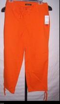 NWT Lauren Ralph Lauren Orange Cotton Capri Pants Misses Size 2 - $42.57