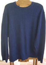 Geoffrey Beene Navy Blue Knit Crewneck Cotton Sweater Mens Size 2X - $24.75