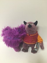 Disney Pixar Monsters INC. University Purple Donna & Chip Plush Toys - $13.50