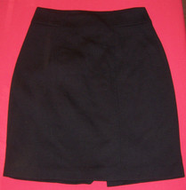 Elie Tahari Black Polyester/Rayon Knee Length Skirt Misses Size 6 (UK 8) w Vent - $29.92