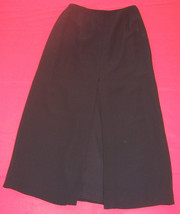Banana Republic Black Long Silk Straight Pencil Skirt Fully Lined Misses Size 6 - $24.75