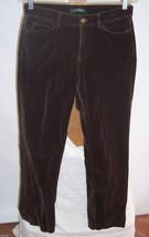 Lauren Ralph Lauren Brushed Cotton Brown Stretch Pants  Misses Size 6 - $34.65