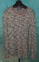 NWT Polo Ralph Lauren Cream & Black Cotton Sweater Mens Size 2X with red trim - $62.37