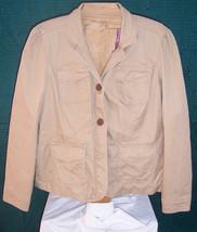 Gap Khaki Brown Jacket Lined Button down Misses Size 16 - $30.69