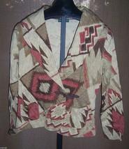 NWT Lauren Jeans Co Ralph Lauren Brown Southwest style jacket Misses Size Medium - $74.25