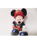Mickey Mouse 2005 Walt Disney World Plush Toy With Red Backpack - $28.01
