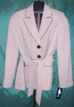NWT Evan Picone Suit Black & White Hounds Tooth Blazer Jacket Misses Size 8 - $116.88