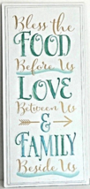"New Inspirational ""Blessing"" FOOD/LOVE/FAMILLY Wall Art Sign Dining Home... - $20.00"