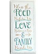 """New Inspirational """"Blessing"""" FOOD/LOVE/FAMILLY Wall Art Sign Dining Home... - $20.00"""