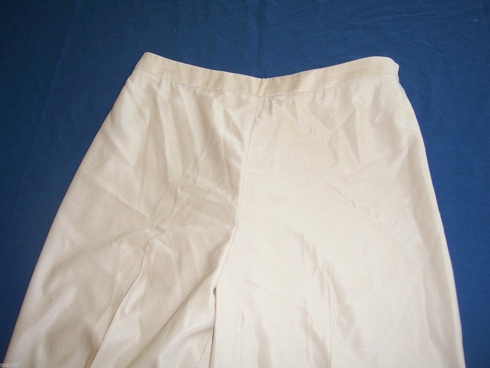 Ellen Tracy Beige Wool Dress Pants Misses Size 4