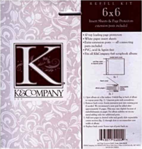K & Company Postbound Page Protectors 6x6 [Brand New] - $6.79
