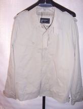 NWT Lacoste Cotton Lined Full Zipper Khaki Beige Jacket Coat Mens Size 5 Medium - $291.06