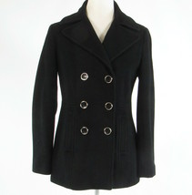 Black wool blend CALVIN KLEIN double breasted long sleeve peacoat 2 - $79.99