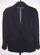 Tahari Arthur S Levine Petite Black Pin Stripe Jacket Misses Size 10P - $35.64