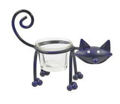 Ganz ~ Black Cat Single Votive Holder [Brand New] - $316,28 MXN
