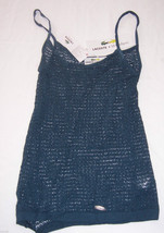 NWT Lacoste + Malandrino Blue Crocheted Tank Top  Shirt Misses Size Small - $67.32
