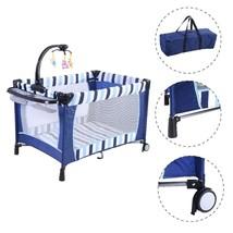 Baby PlayPen Foldable Crib Bassinet Newborn Inf... - $78.95