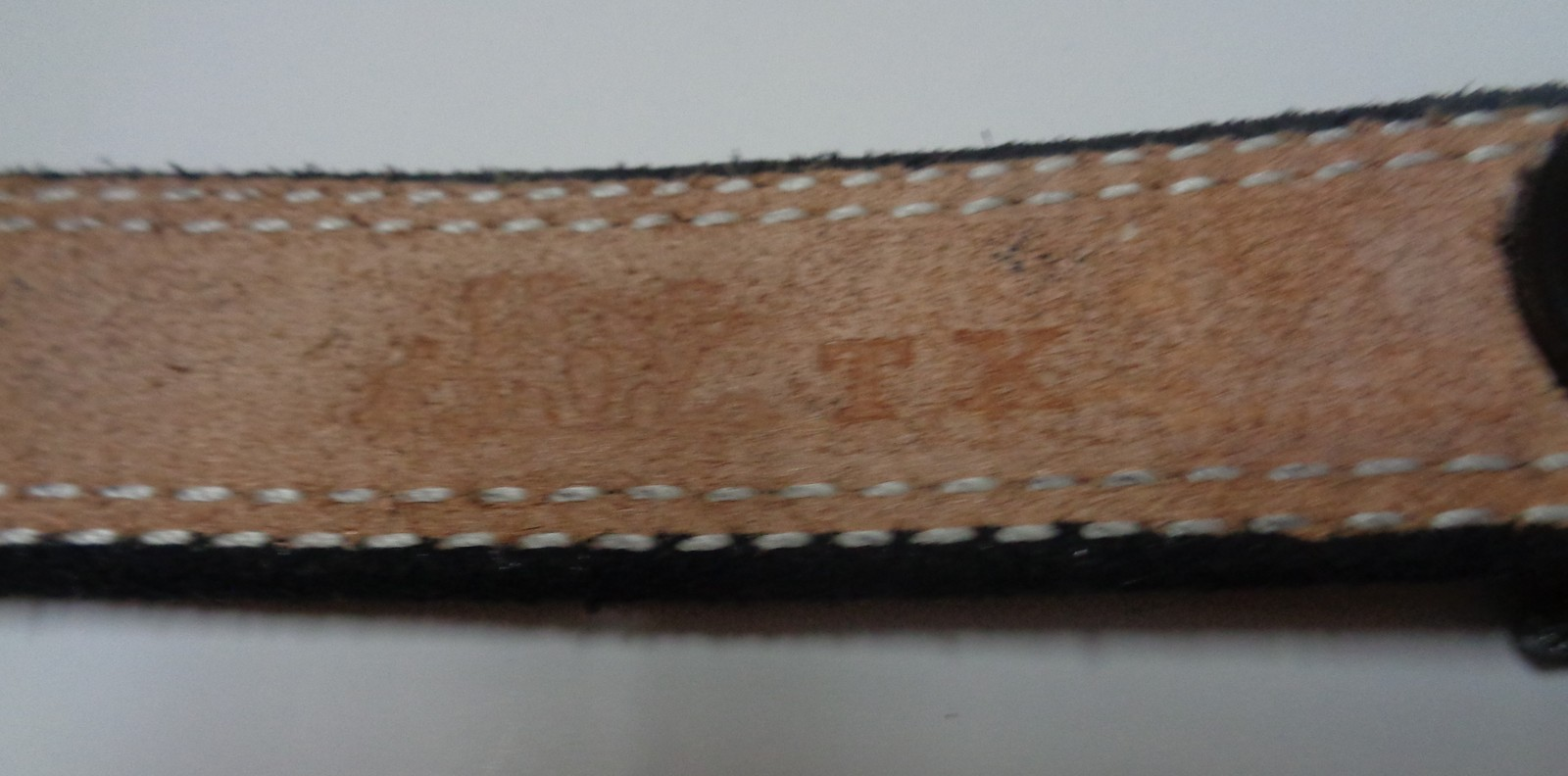 Custom Made Cow Leather Belt Native American Chief Pewter Buckle NEW Sz 36