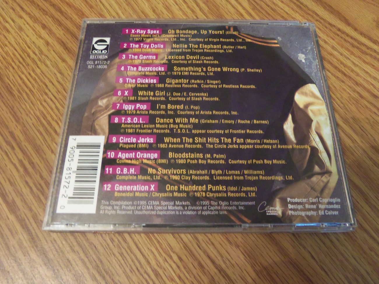 Punk University Vol 2 1995 Various Artists Iggy Pop X GBH T.S.O.L Dickies Germs