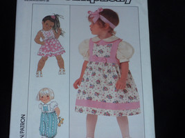 Simplicity 9536 Pattern - Toddlers' Jumper or Sundress and Blouse  Size 1/2 to 3 - $5.00
