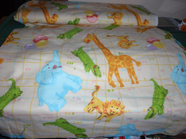 Blizzard Elephant Circus 100% Cotton Flannel Fabric 44 Inches Wide Sold by the Y - $8.99