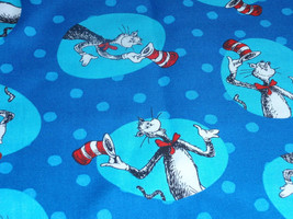 """The Cat in The Hat Print Mulitcolor  100% Cotton Fabric  44"""" Wide Sold by the Ha - $4.99"""