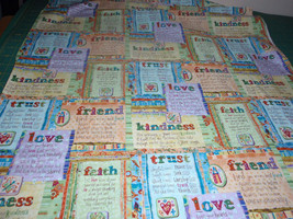 Inspirational Notes Faith, Trust, Friend, Kindness and Love Quilting Sewing 100% - $6.99