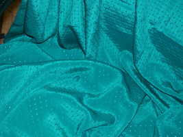Forest Green Silk Satin Apparel & Fashion Fabric by Kanebo International Collect - $6.99