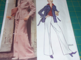 Vogue 2824  Vintage 70's  Jacket and Wide Straight Legged Pants by Ameri... - $10.00