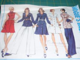 Vogue 2839  Vintage 70's  Tunic, Dress and Wide Straight Legged Pants Basic Desi - $10.00