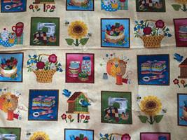 """Makeower UK Fabric """"Stash Labels"""" Sewing Motif 3"""" blocks  1/2 Yard  44"""" ... - $4.99"""