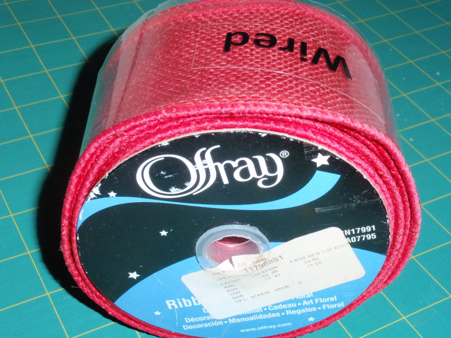 """Offray Spool O' Ribbon White Double Sided 1//8"""" X 10 Yds."""