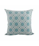 Aqua Hydra Printed Geo Down Filled Throw Pillow... - £33.35 GBP