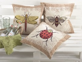 Insect Design Down Fill Decorative Throw Pillow... - $37.99