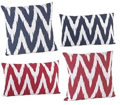 Bali Chevron Zigzag Contemporary Throw Pillow, ... - $25.99