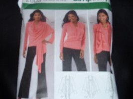 Simplicity 2603 Misses Knit Blouse, Tunic and Cardi-Wrap with Front Variations P - $8.00