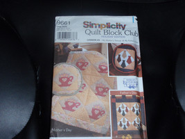 Simplicity 9661 Quilt Block Club Lesson #3  Tea... - $5.00