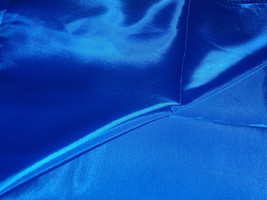 """Royal Blue Silk Poylester Lining Fabric  45"""" Wide Sold By The Yard - $4.99"""