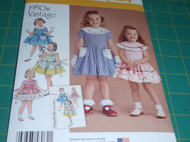 Simplicity 8062 Pattern 1950 Vintage Toddlers and Child's Dress  Size 1/... - $6.00