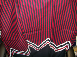 "Single Border Black, Red and White Cotton Fabric 54"" Wide  1 Yard and 25 Inches  - $8.99"