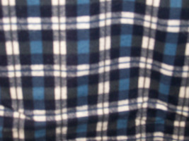 """Plaid Cotton Flannel Fabric Colors Blue, Black & White  1 Yard and 15"""" Long - $10.99"""
