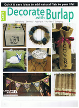 Decorate with Burlap Softback Book by Leisure Arts Stenciling, Sewing, A... - $6.95