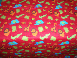 """Rockaby Tarzan Red Flannel 44"""" Wide 100% Cotton Sold by the Yard - $8.99"""
