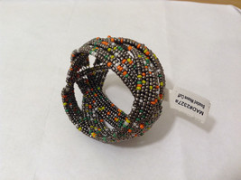 NEW Metal wire Beaded Weave Cuff Bracelet One Size fits all by MAD Style image 3