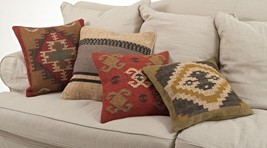 Kilim Striped Down Filled Decorative Throw Pill... - $49.99