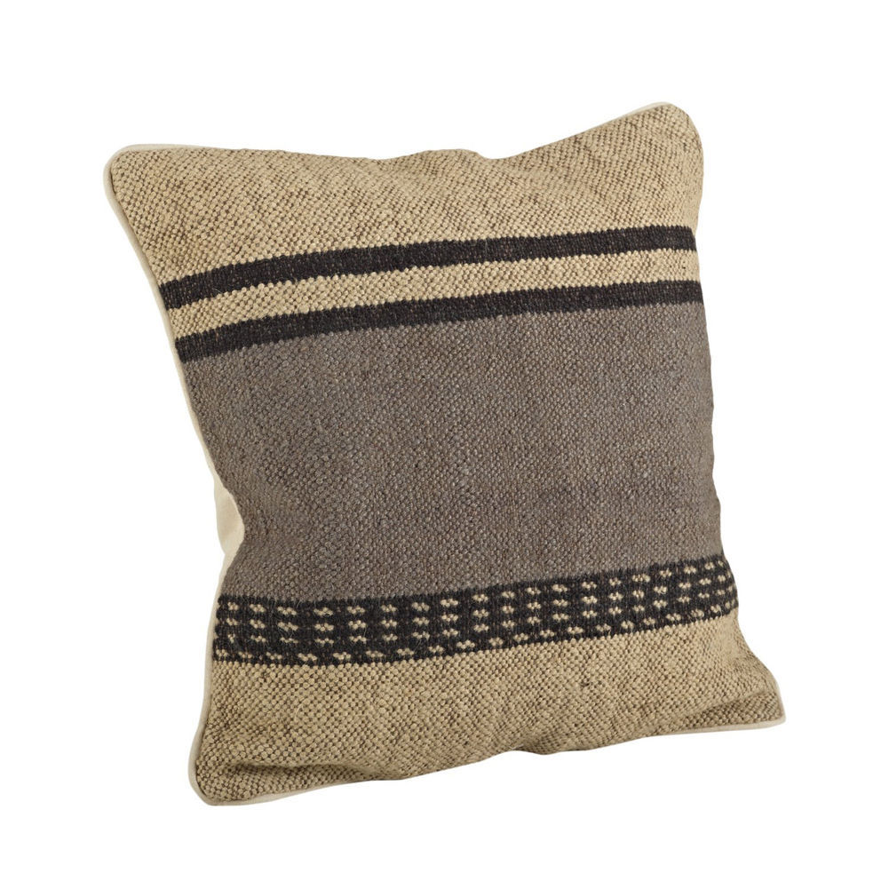 Kilim Striped Down Filled Decorative Throw Pillow, 20-inch Square - Pillows