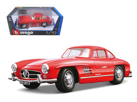 1954 Mercedes Benz 300SL Gullwing Red 1/18 Diecast Model Car by Bburago - $65.79